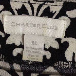 Charter Club Tops - Women's Charter Club Black and White Printed top